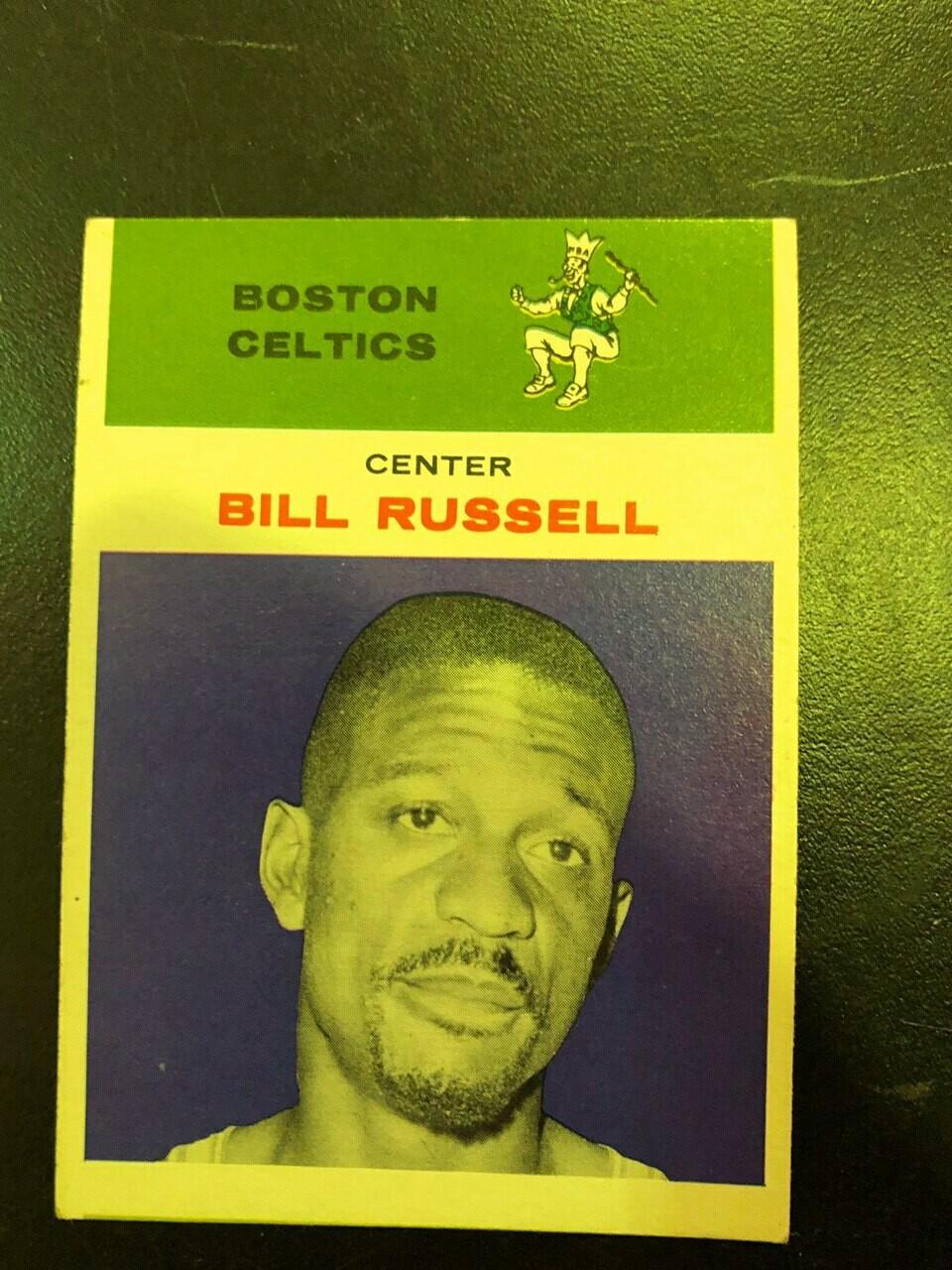 1961/62 Fleer #38 Bill Russell, List $350, Sell $175