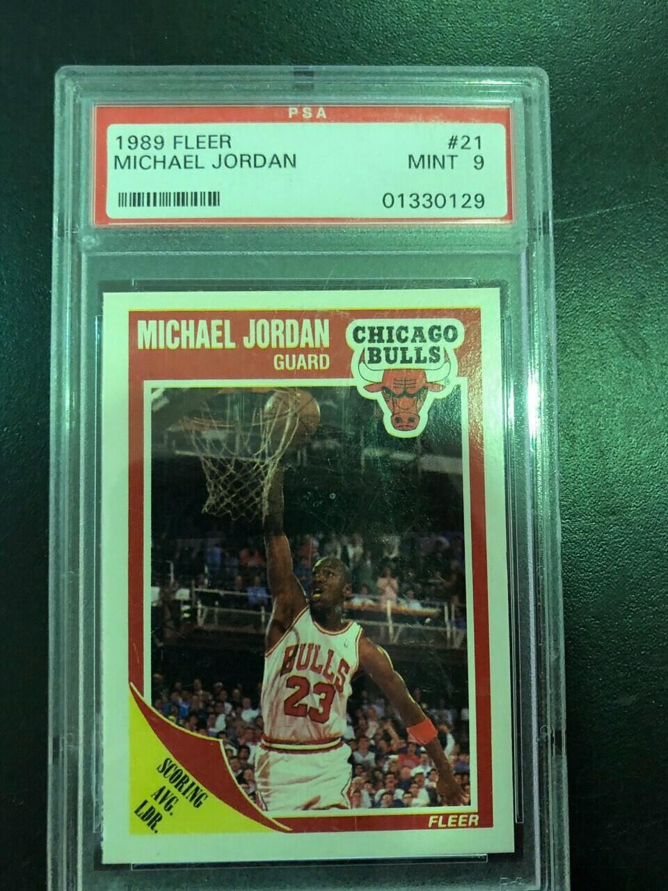 1989/90 Fleer Michael Jordan PSA graded 9, $30