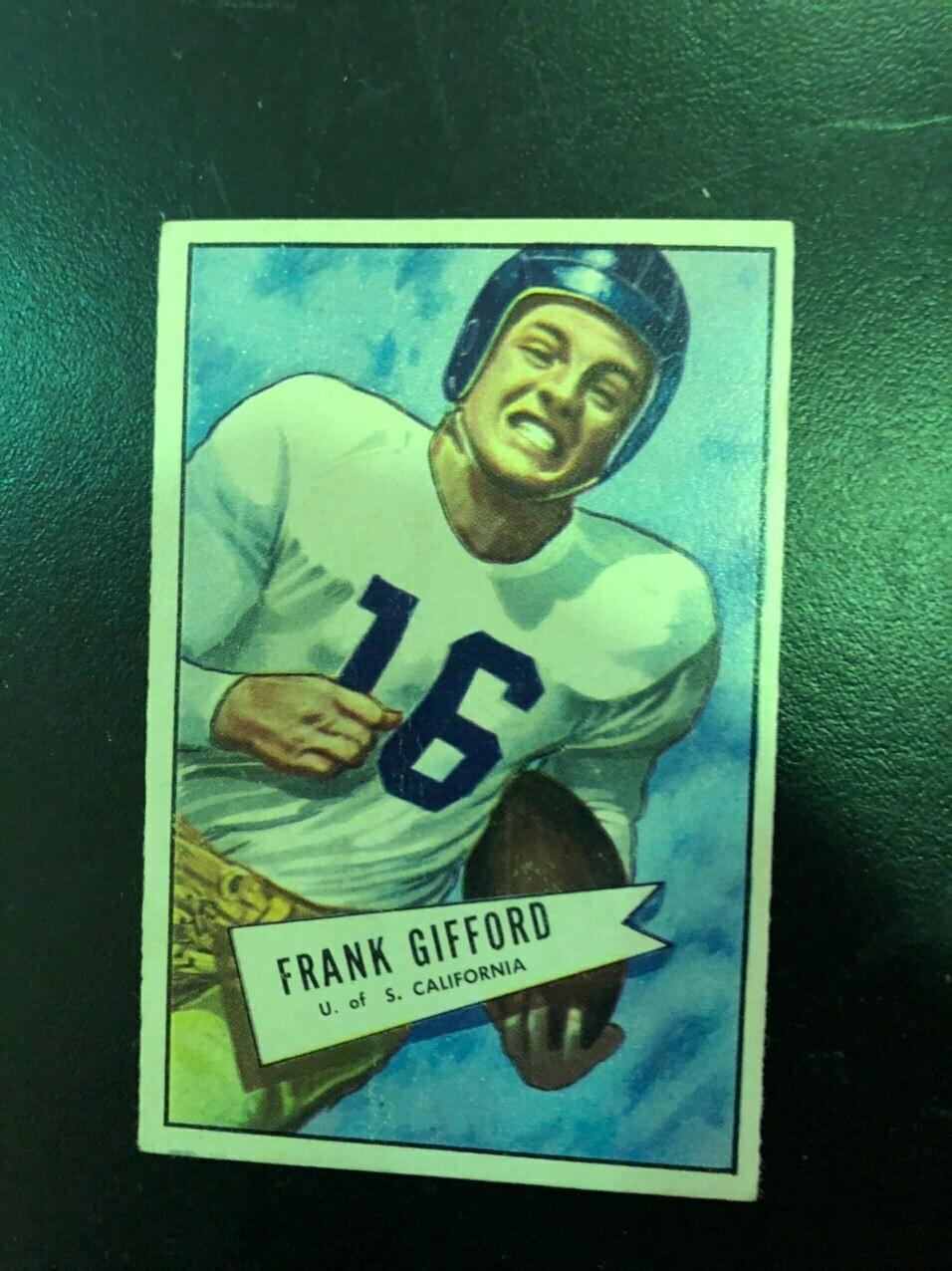 1952 Bowman Small #16 Frank Gifford, List $400, Sell $295