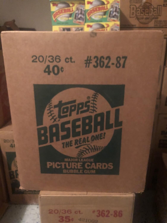 1987 Topps Baseball Wax Case; 20 boxes