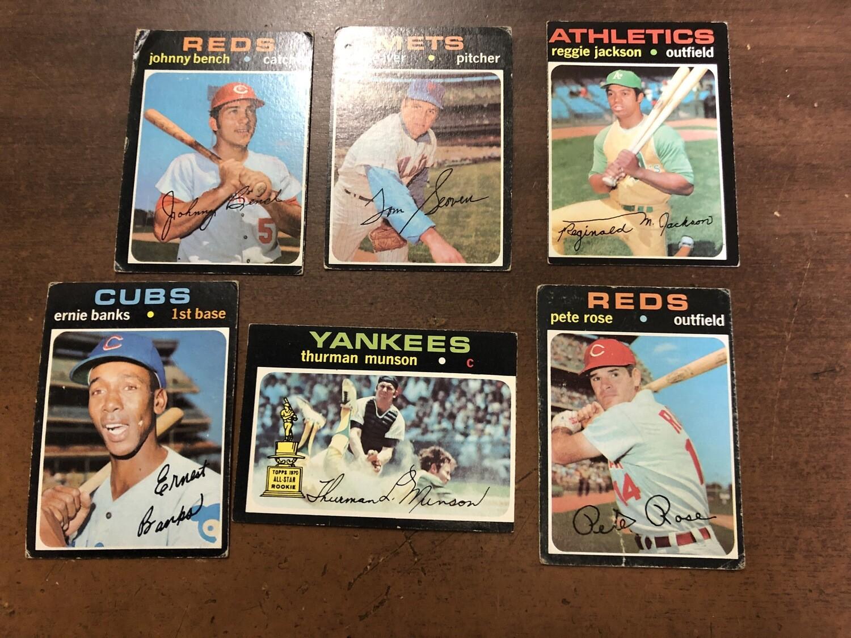 1971 Topps Starter set 375 cards; 25 stars
