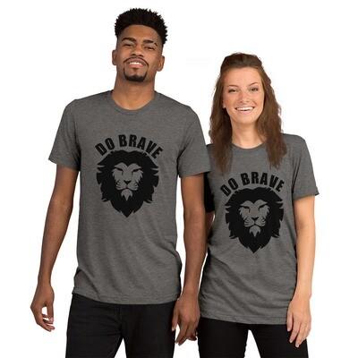 Do Brave Lion Unisex Tri-Blend T-Shirt (Black)