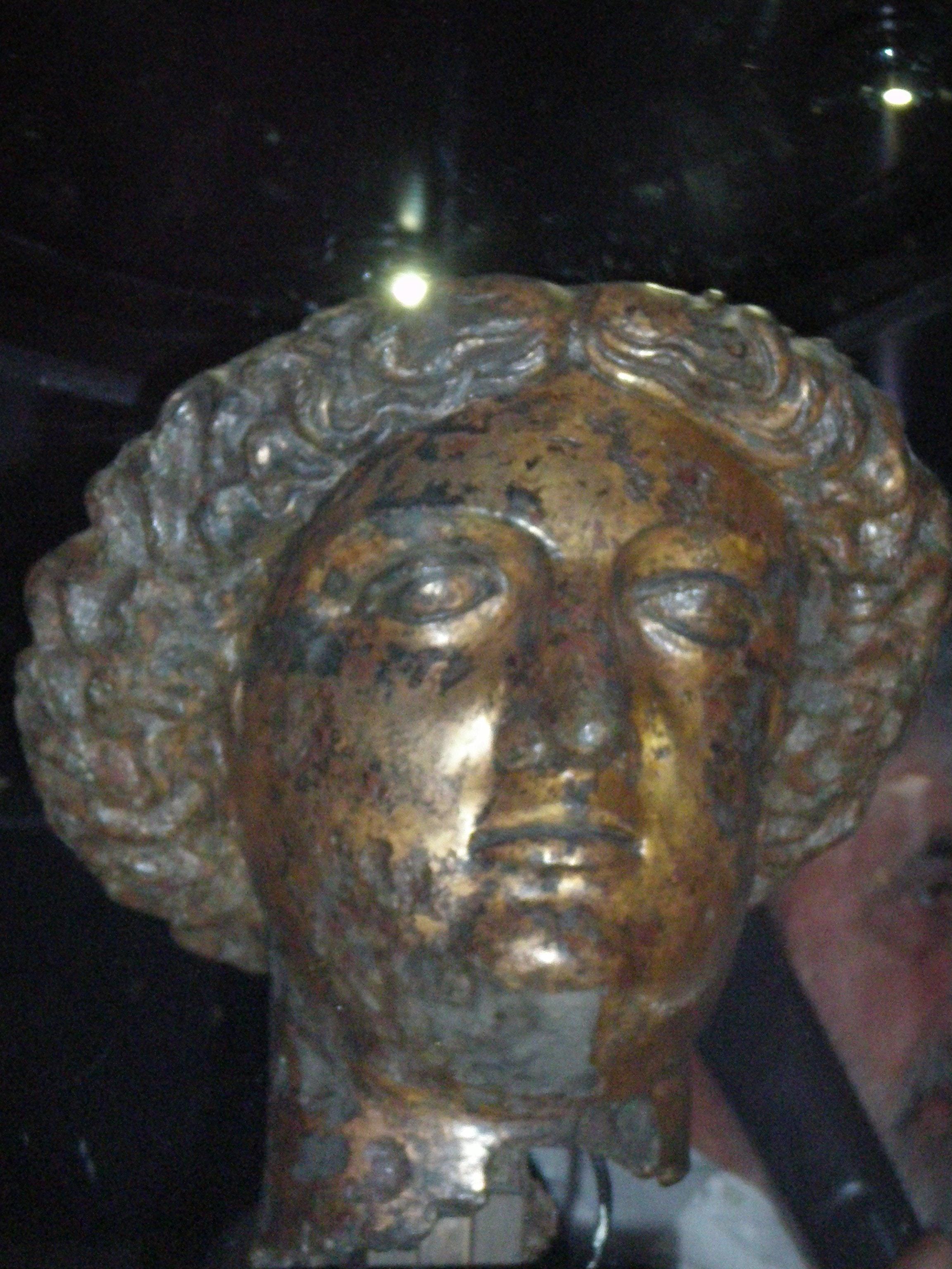 Bronze Head of the Goddess Minerva