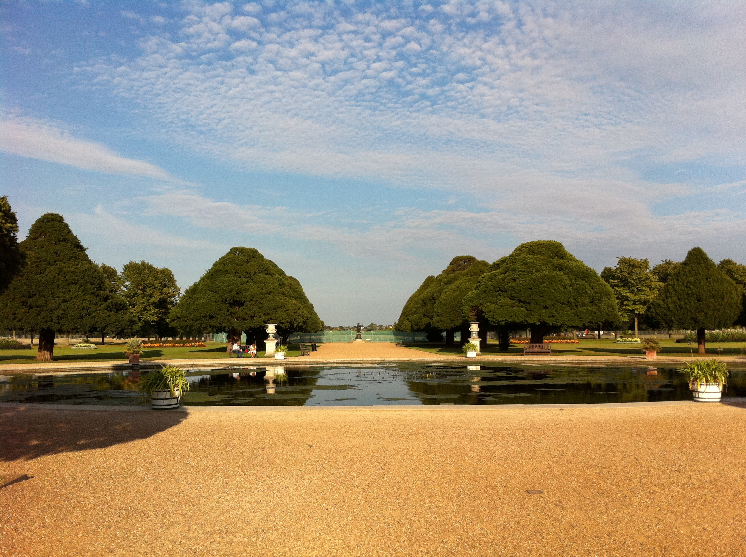View of the East Gardens Hampton Court