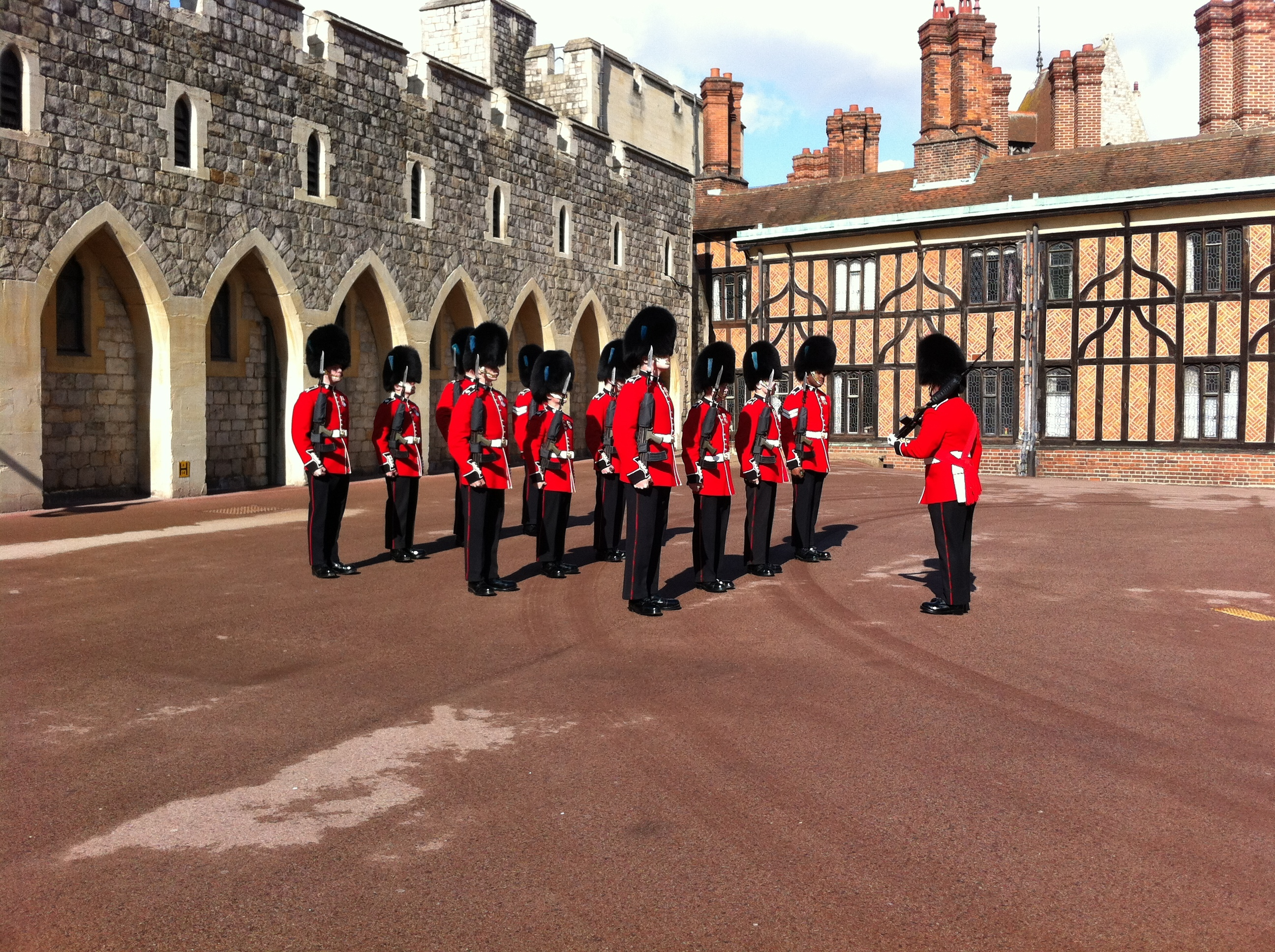 Getting ready to Change thre Guard at Windsor