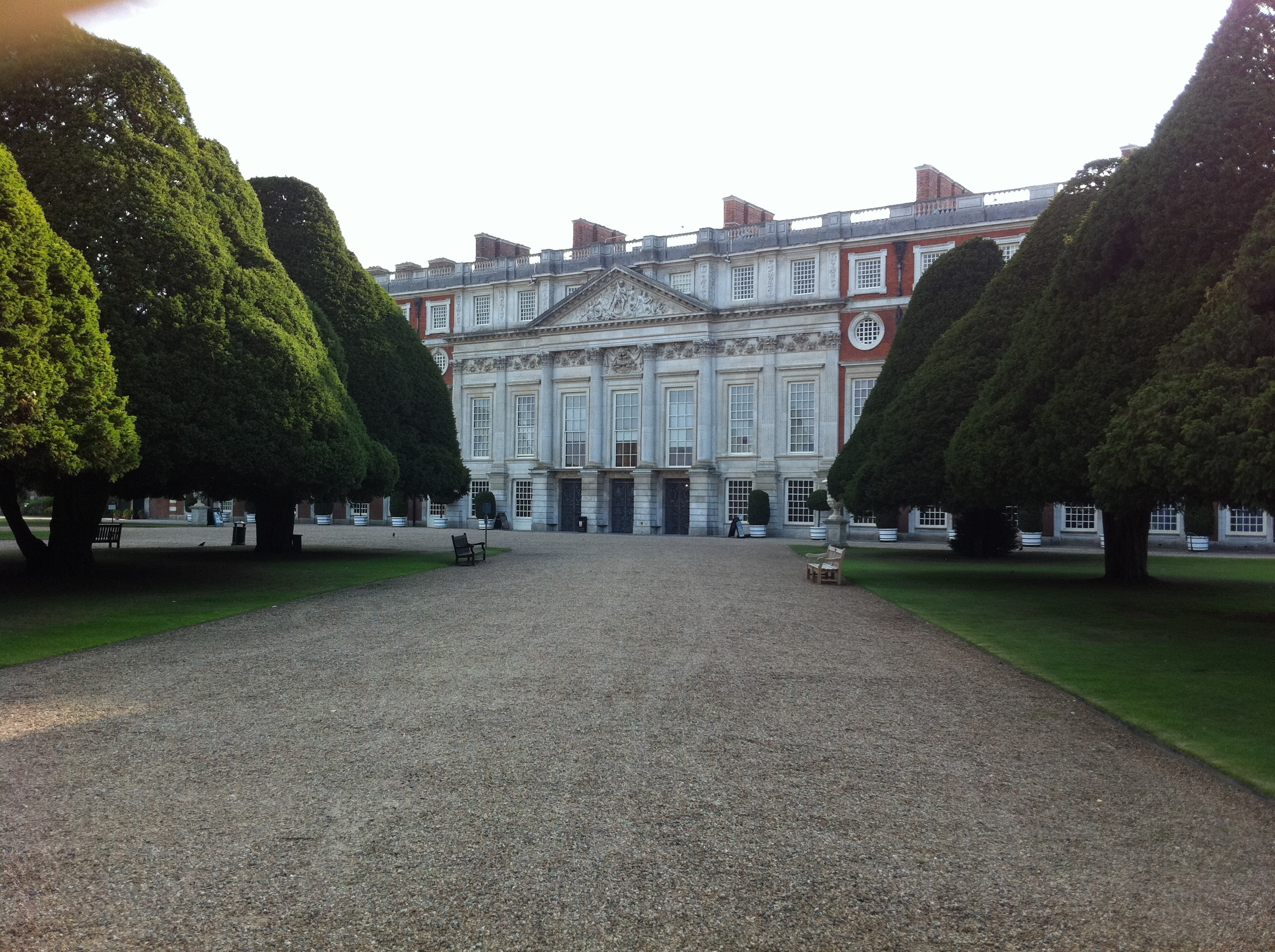 View of the East front of Hampton Court