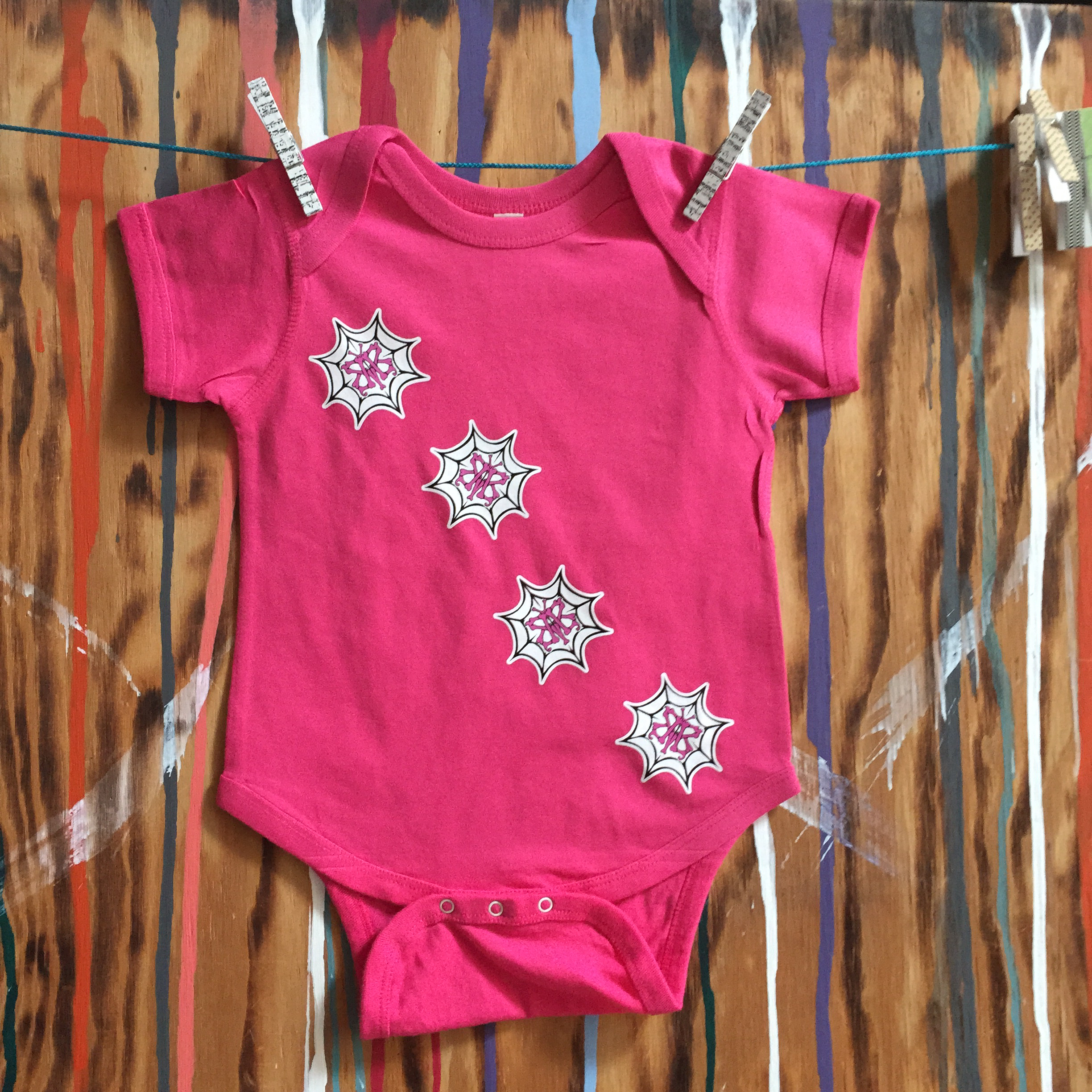 WEBBED BUTTERFLY Pink Infant Creeper WBPIC