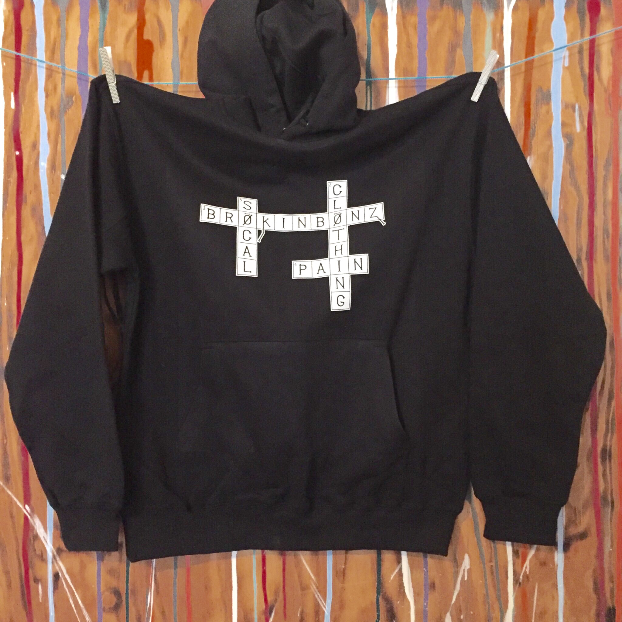 CROSSWORD PUZZLE Unisex Pull Over Hoodie with Custom Fraction CPMUPOH