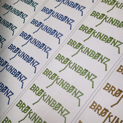 BRØKINBØNZ Sticker Pack...8 stickers