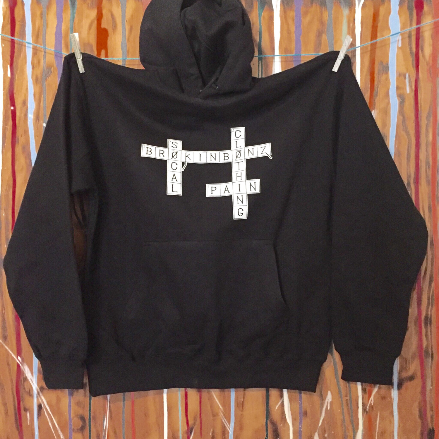 CROSSWORD PUZZLE Unisex Pull Over Hoodie with Custom Fraction