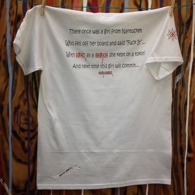 LIMERICK White Unisex Tee... White and Orange Font with Custom Fraction
