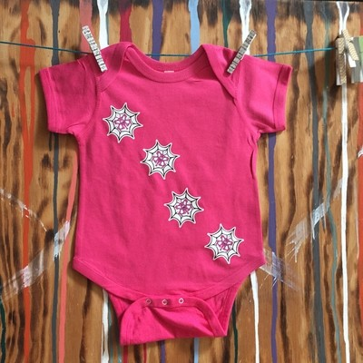 WEBBED BUTTERFLY Pink Infant Creeper