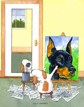 Self-Portrait Doberman