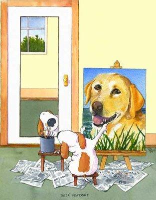 Self-Portrait Labrador, Yellow