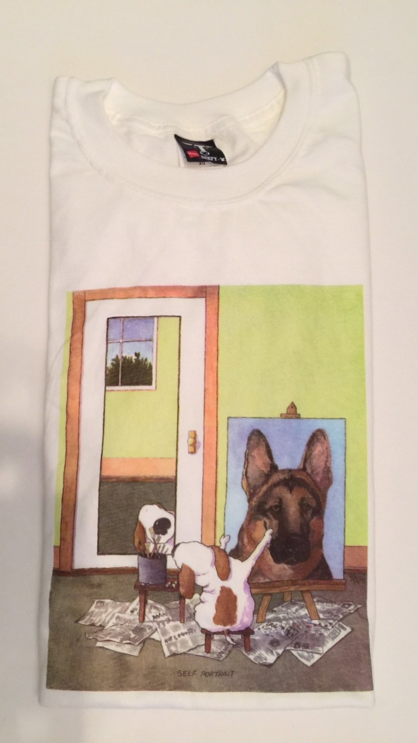 S/SGermanShepGREENSPT-ShirtLARGE
