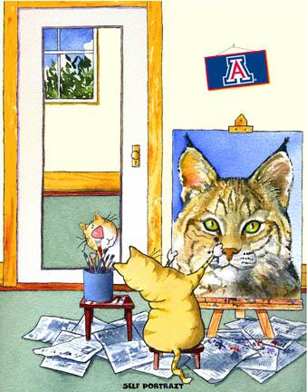 Self-Portrait Arizona Mascot