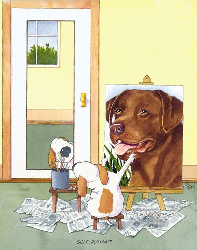 Self-Portrait Labrador, Chocolate