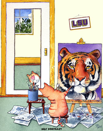 Self-Portrait LSU Mascot