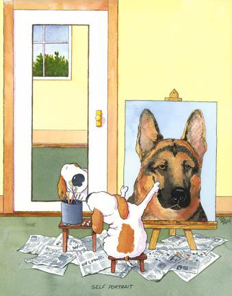 Self-Portrait German Shepherd