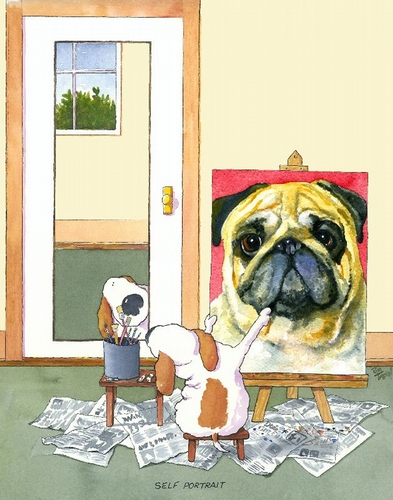 Self-Portrait Pug