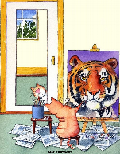Self-Portrait Tiger Cat