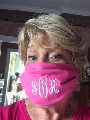 Monogrammed Face Mask