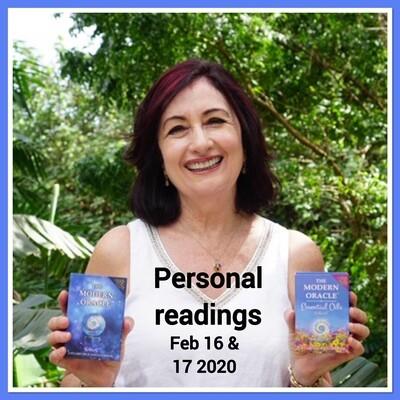 Katy-K  Personal Readings:Feb 16, & 17 2020
