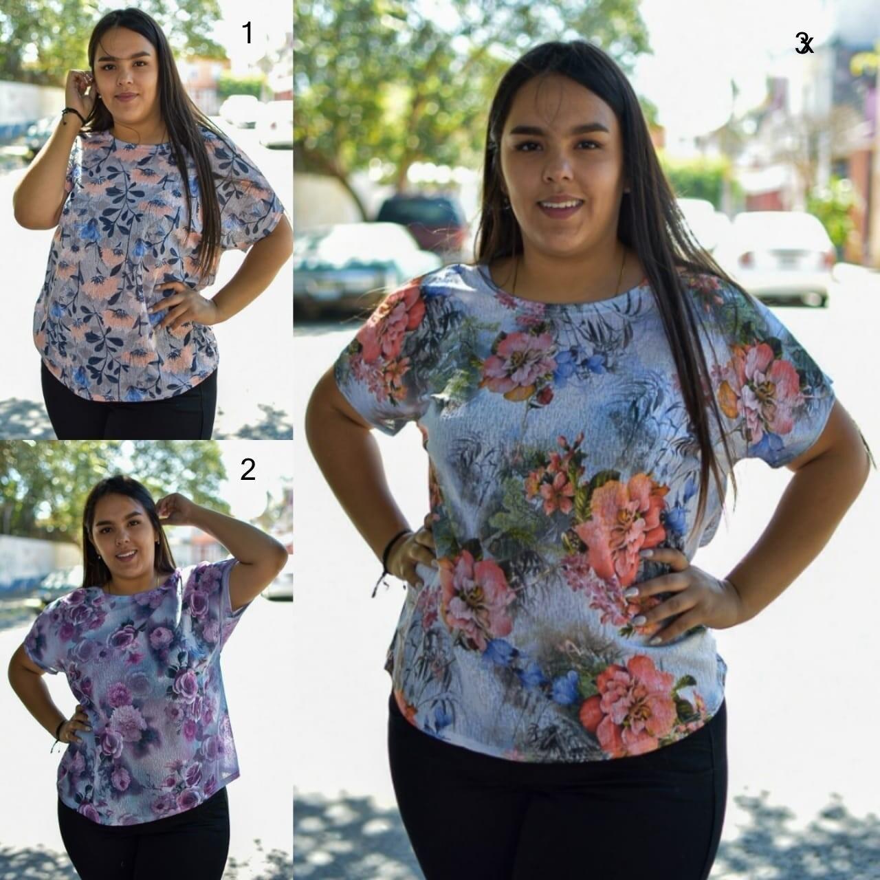 Blusa estampada curvy modelo
