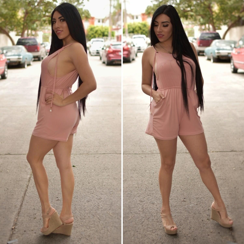 Jumper short para dama color rosa
