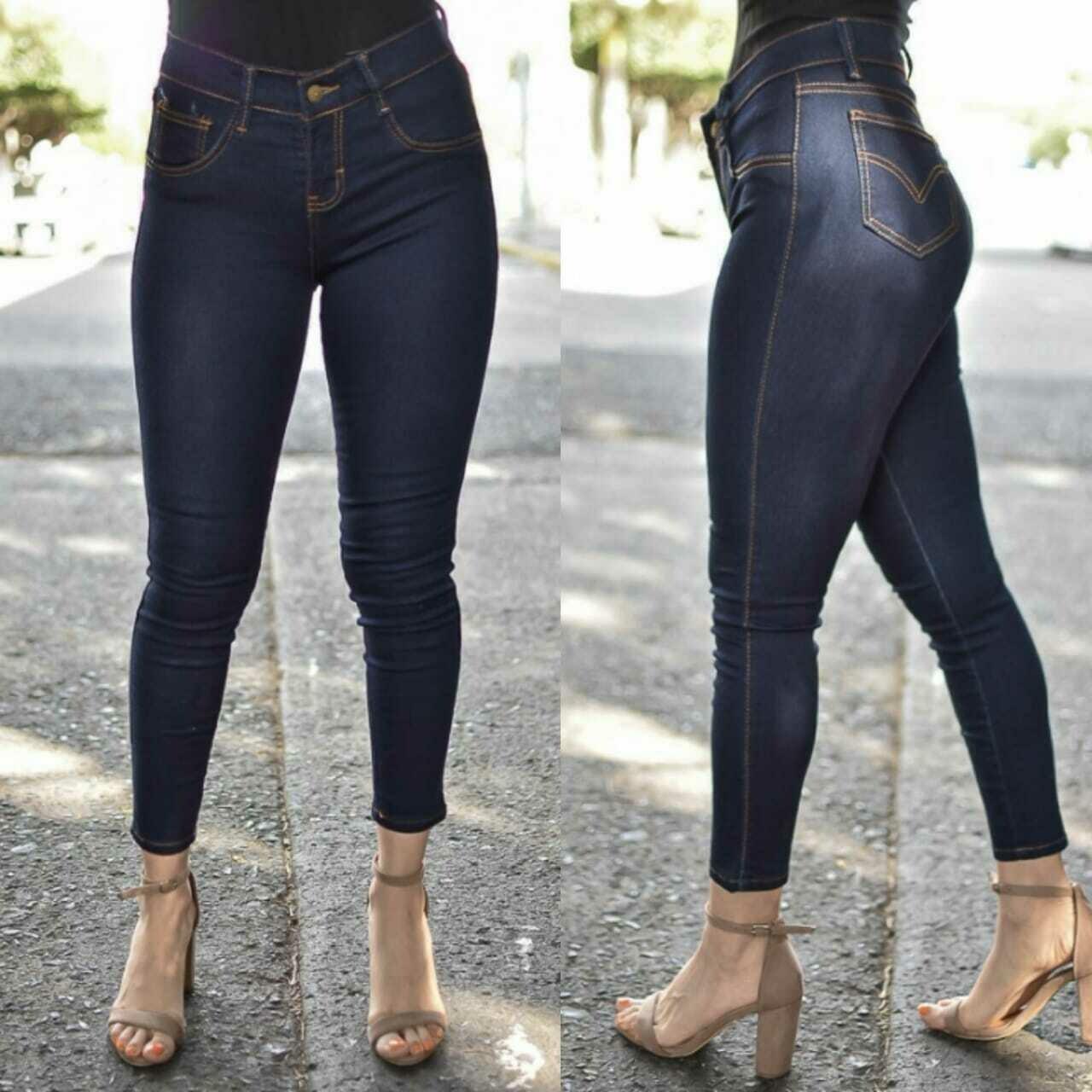 Pantalon mezclilla para dama tobillero