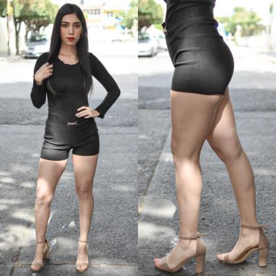 Short corto modelo kit-negro