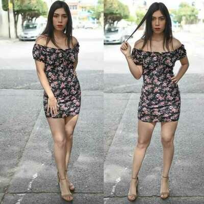 Vestido Floral modelo SNN18-3