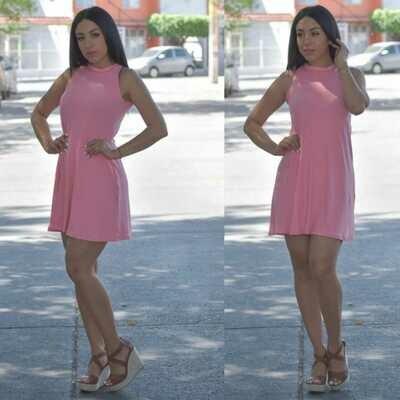 vestido corte A-Rosa