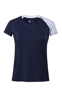 T-Shirt Due Colore  Damen Dress Blue