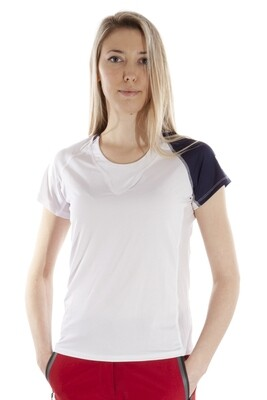 T-Shirt Due Colore  Damen White