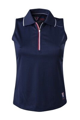 Polo Top Damen Dress Blue
