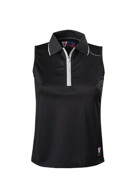 Polo Top Damen Black