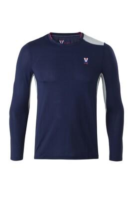 T-Shirt Lang Arm Herren Dress Blue