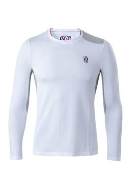 T-Shirt Lang Arm Herren White