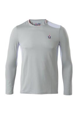 T-Shirt Lang Arm Herren Ghost Grey