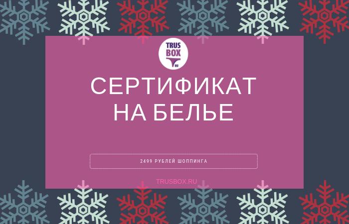 Подарочный сертификат ТРУСБОКС 00120