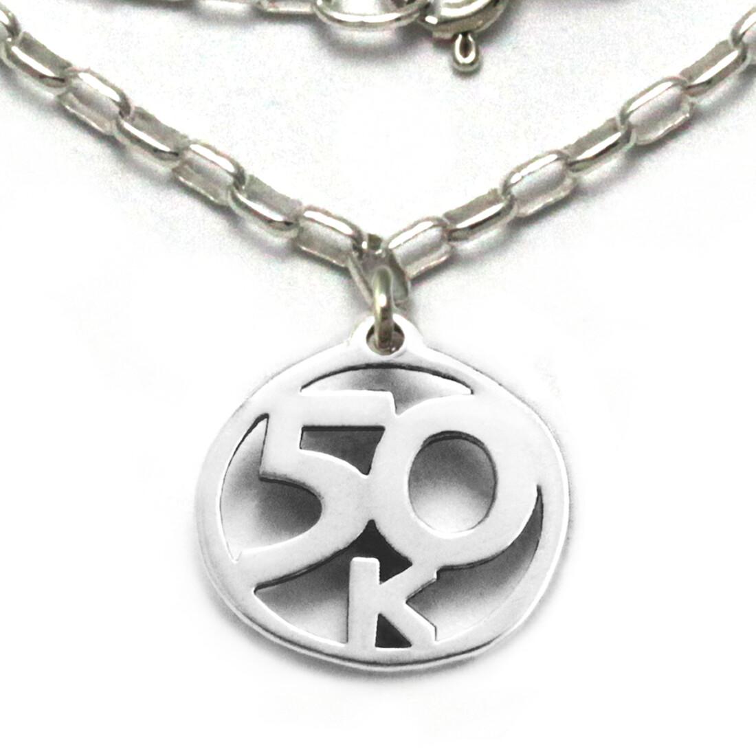 50k Necklace Sterling Silver