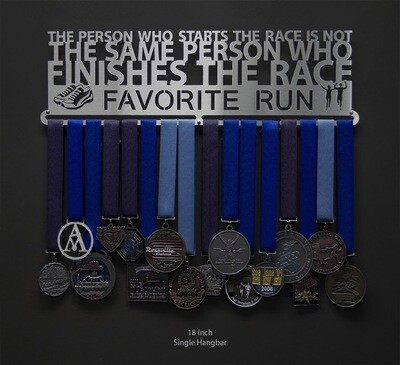 Favorite Run Finishes the Race Medal Display