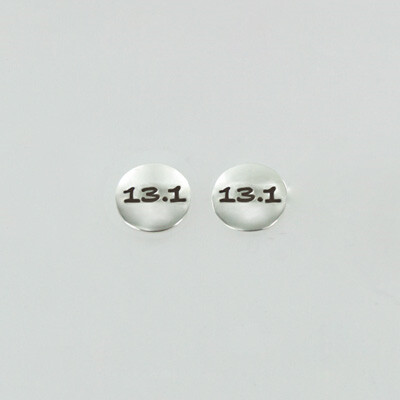Sterling Silver 13.1 Running Distance Earrings