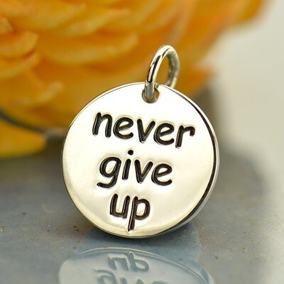 Sterling Silver Never Give Up Necklace