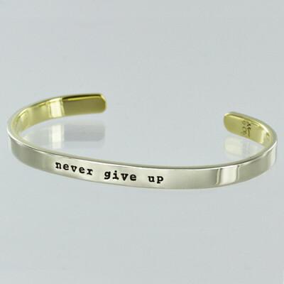 Inspirational Stackable Mantra Cuff Bracelet Adjustable