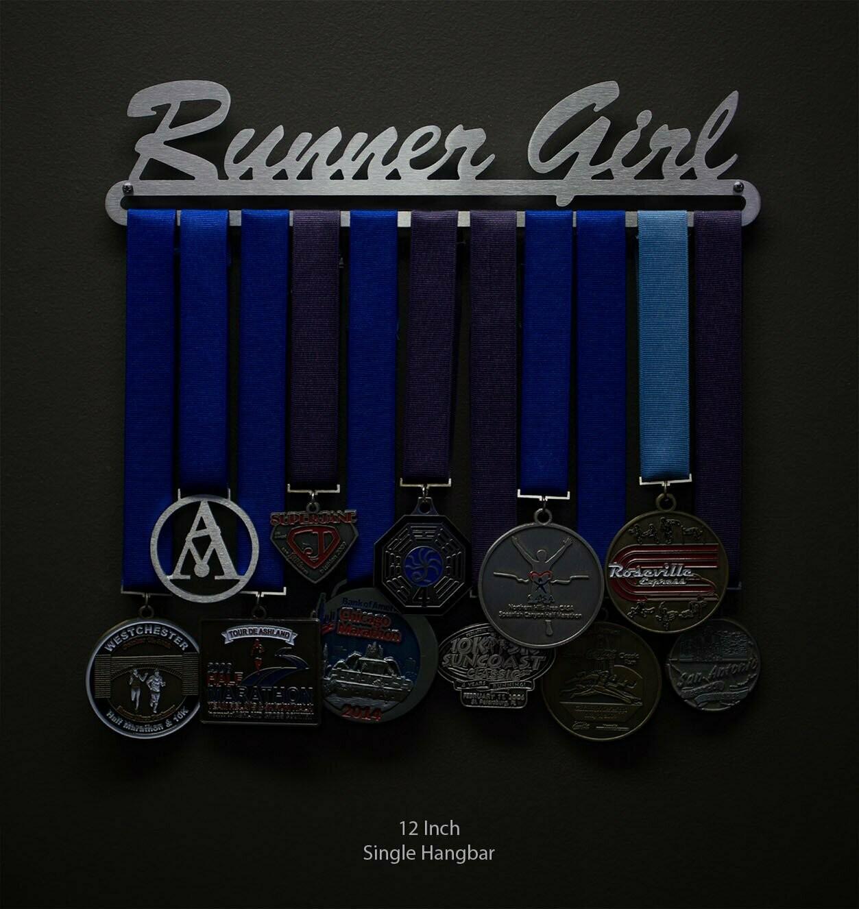 Runner Girl Medal Hanger