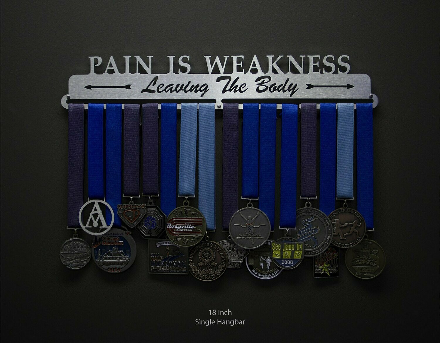 Medal Display Pain Is Weakness Leaving The Body