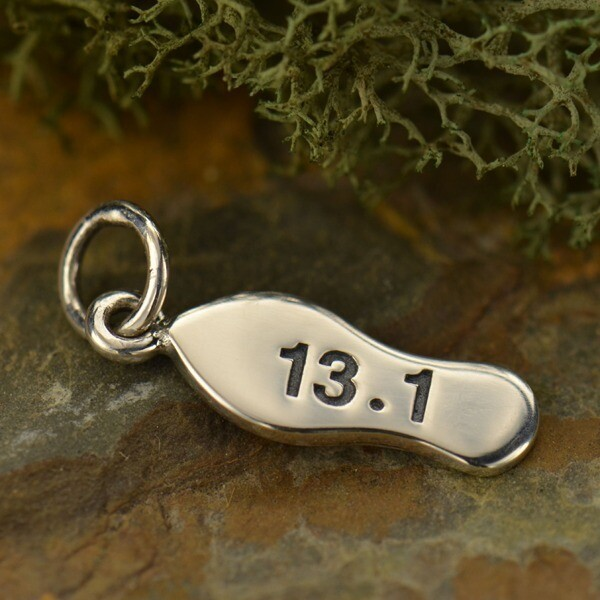 Sterling Silver 13.1 Half Marathon Charm Necklace