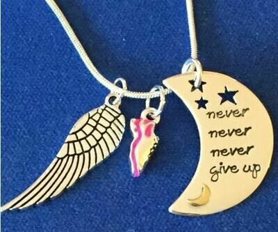 Never Never Never Giveup Necklace Trio